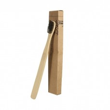 Бамбуковая зубная щетка с угольной щетиной