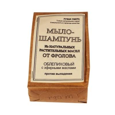 Твёрдое мыло-шампунь Облепиха