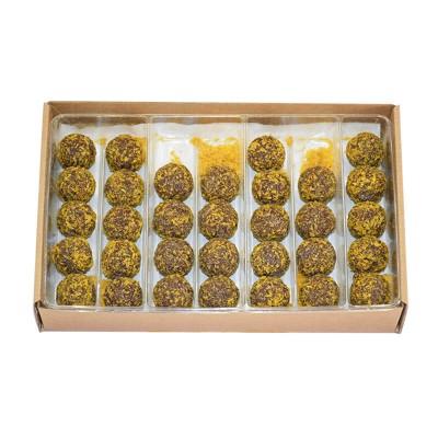 """Сыроедные шоколадные конфеты """"Манго-мусс"""""""