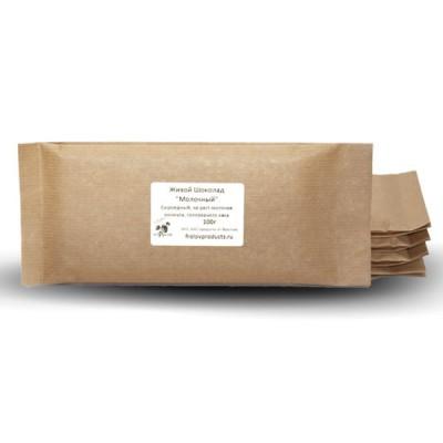 Сыроедный веганский шоколад «Молочный с кунжутом» в плитке 100 гр.